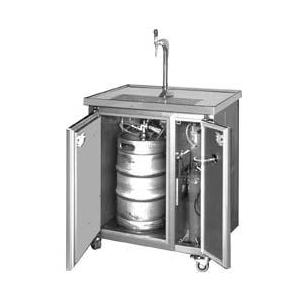 Zapfanlage 1 läufig fahrbar mit kühlschrank durchlaufkühler kühl